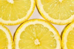 Fotografía macro de rodajas de limón foto