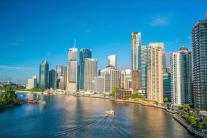 Brisbane city skyline and Brisbane river photo