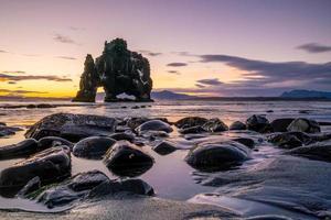 Icelandic nature landscape. Famous tourist attractions, Hvitserkur photo