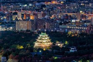 Nagoya castle and city skyline in Japan photo