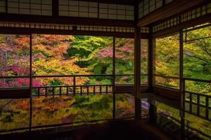 View of the autumn colors from the old temples in Kyoto photo