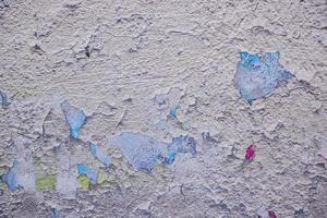 Wall with old peeling stucco photo