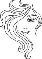 Girl with beautiful hair vector