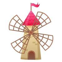 Stone windmill image vector