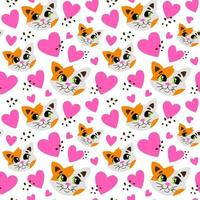 Seamless pattern with cats vector
