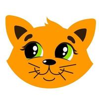 Cute cat illustration vector