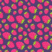 Seamless strawberry pattern vector
