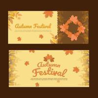 Autumn sale Banner vector for social media,web ads background