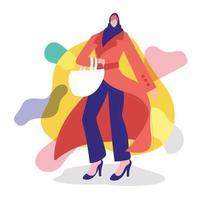 Ladies fashion illustration concept vector
