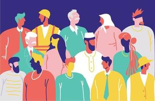 Different kind of peoples in society illustration concept vector