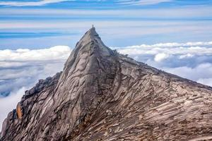 Nature landscape at the top of Mount Kinabalu in Malaysia photo