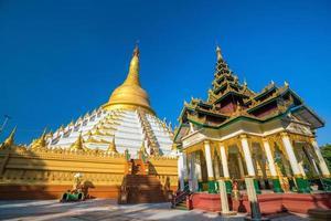 Mahazadi pagoda with blue sky in Bago photo