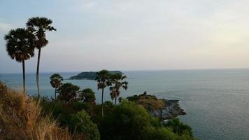 Time-lapse Promthep Cape with Sky and Sea at Phuket in Thailand video