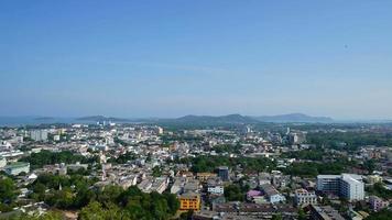 Horizon de la ville de phuket time-lapse en thaïlande video