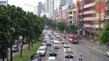 Atasco de tráfico en Bangkok, Tailandia video
