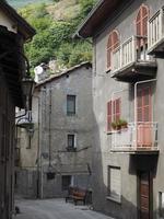 View of Pont Saint Martin old city centre photo