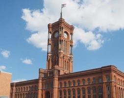 Rotes Rathaus en Berlín. foto