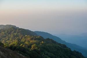 Beautiful layers mountain of background photo