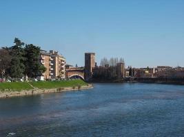 River Adige in Verona photo