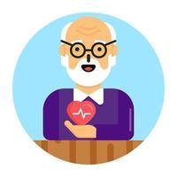 problema de salud de los ancianos vector