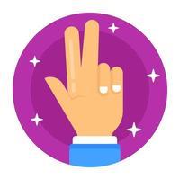 Peace finger Gesture vector
