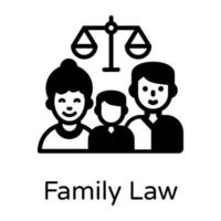 Family Law And Act vector