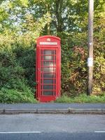Red phone box in London photo