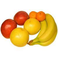 fruta aislada sobre blanco foto