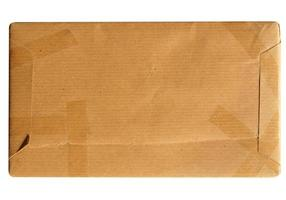 Corrugated cardboard parcel photo