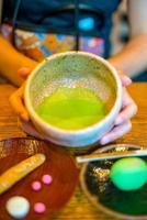 Traditional Kyoto style green tea photo