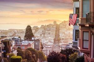 Famous Lombard street in San Francisco photo