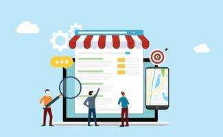 local seo market strategy business search engine optimization vector