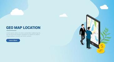 website design landing page ui for a man people access wireless vector