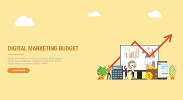 website design landing page ui ux for digital marketing vector