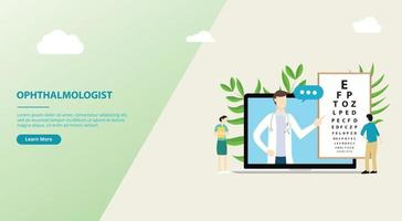 ophthalmologist consultationt website design template vector