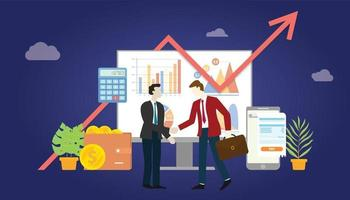 b2b business to business marketing deal agreement vector