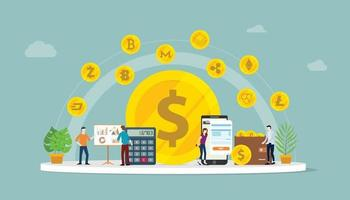 cryptocurrency business money option vector