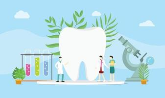 dental health concept with doctor and some equipment vector