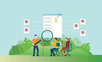 backlinks seo website development to increase traffic visitor vector