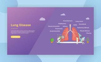 various lung disease doctor examine or explore the lungs vector
