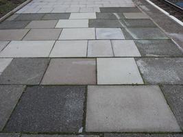 Grey concrete pavement background photo
