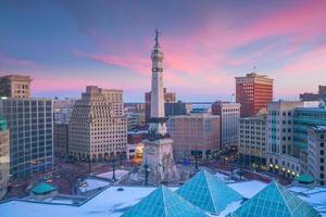 Indianapolis city downtown skyline USA photo