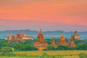 Bagan cityscape of Myanmar in asia photo