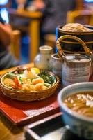 Traditional Kyoto style soba noodle photo