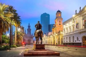 Plaza de las Armas square in Santiago photo