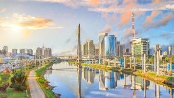 Octavio Frias de Oliveira Bridge in Sao Paulo photo