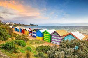 Colorful Beach House at Brighton Beach, Melbourne photo