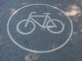 Bike lane sign photo