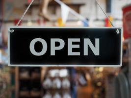 Open shop sign photo