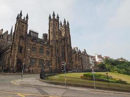View of the city of Edinburgh photo